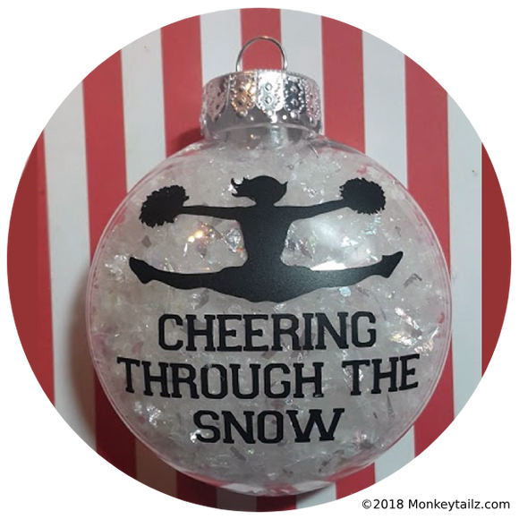 Cheerleader Christmas Ornament ~ Cheering through the Snow