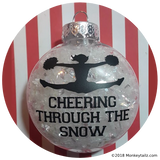 Cheerleader Christmas Ornament ~ Cheering through the Snow …