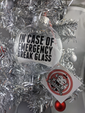 Funny Toilet Paper Christmas Ornament - In Case of Emergency Break Glass