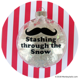Moustache Ornament ~ Stashing through the Snow Mustache