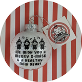 Merry X-Mask Healthy New Year Christmas Ornament