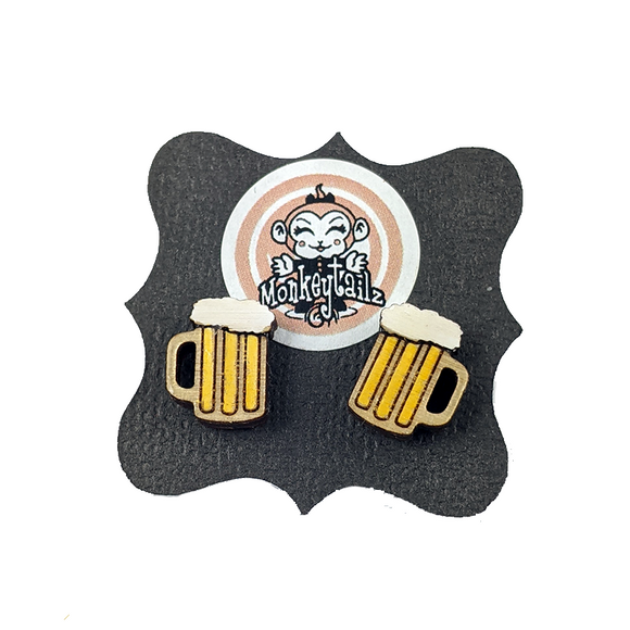 Beer Mug Tiny Stud Earrings
