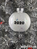 Social Distancing Walking in a Winter Wonderland Christmas Ornament by Monkeytailz