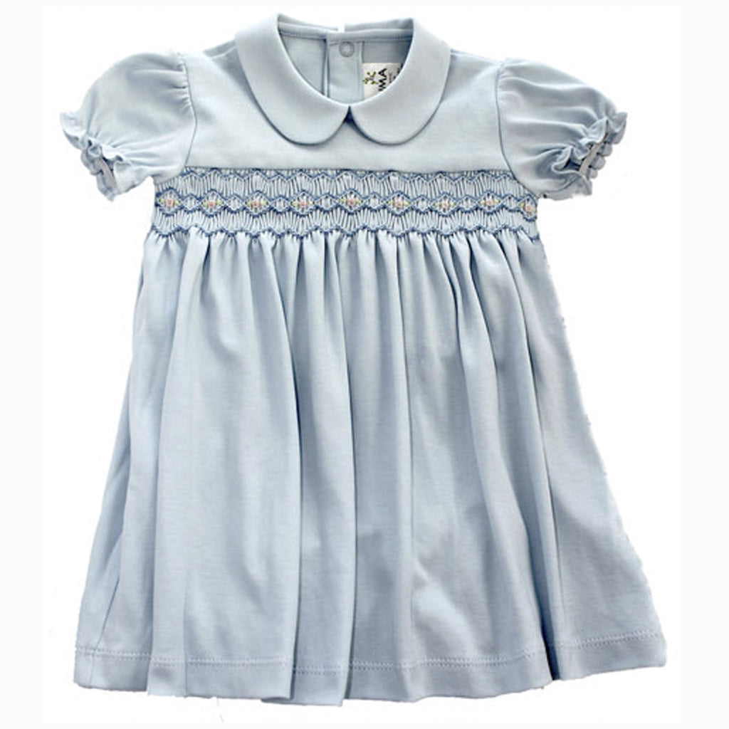 Bluebell Hand Smocked Dress Set by PillieMillie