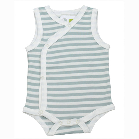 Organic Sleeveless Bodysuit - Aqua
