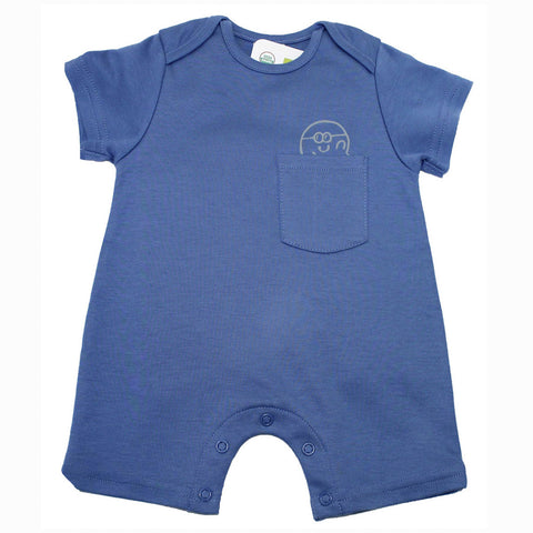 Blue Octopus Organic Playsuit