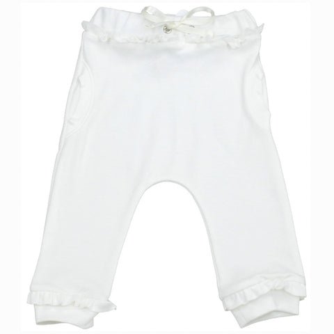 Organic Girl Bubble Pants - White