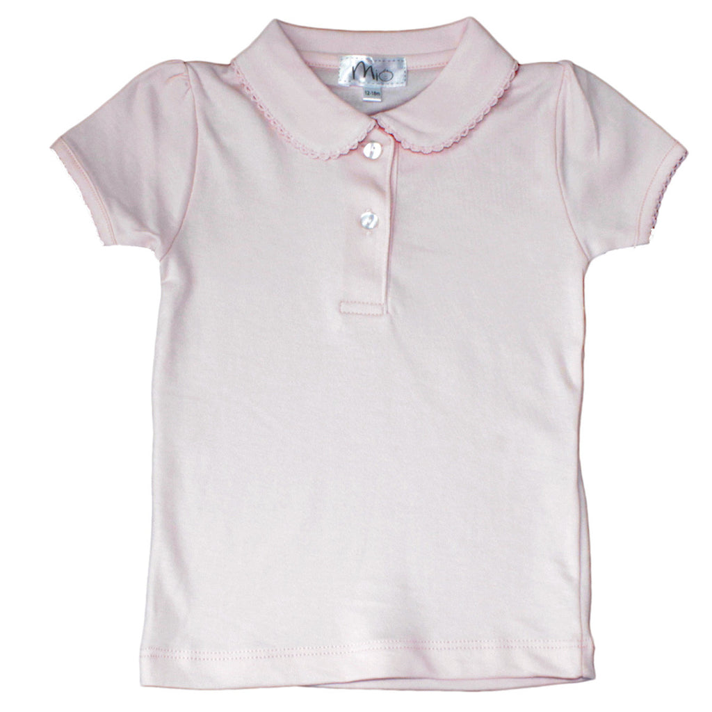 Peter Pan Collar Polo -pink