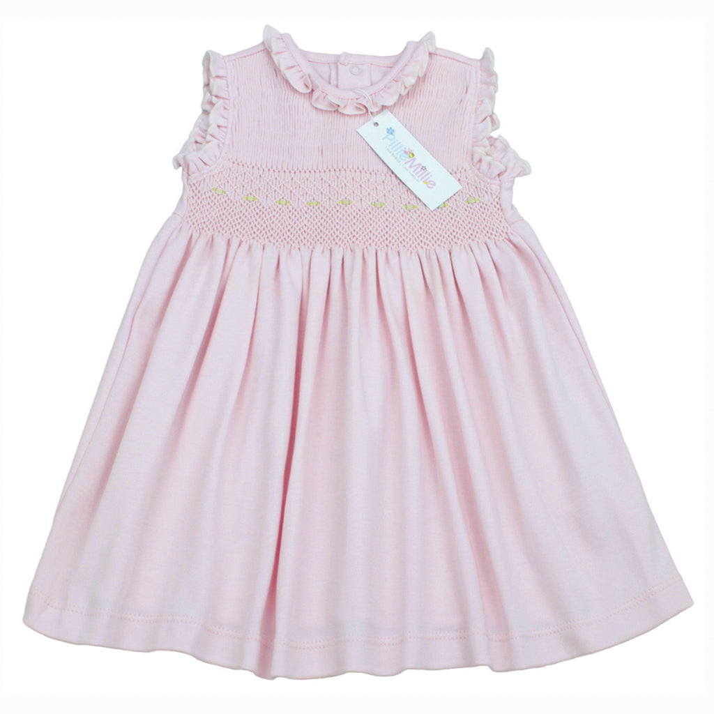 Dalia Hand Smocked Pink Dress Set by PillieMillie