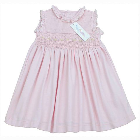 Dalia Hand Smocked Pink Dress Set