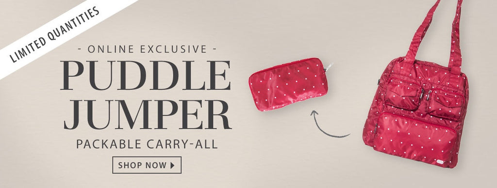 The Puddle Jumper Packable Carry-All is finally here!