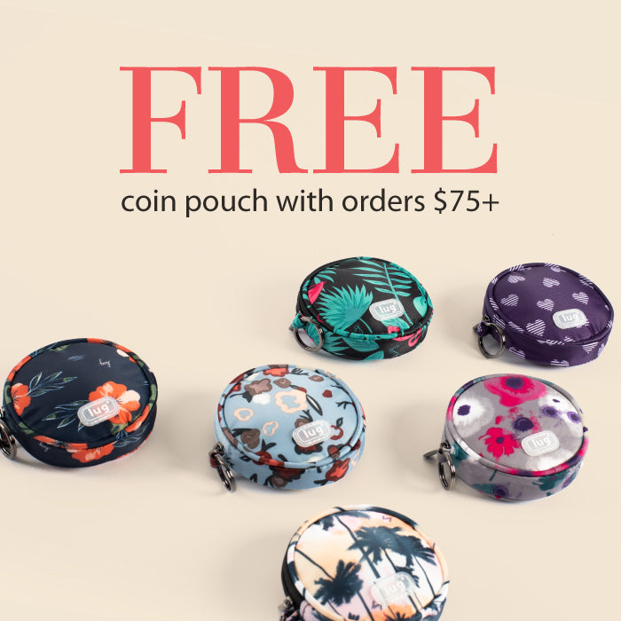 Free Coin Pouch with purchase $75+