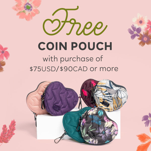 Free coin pouch when you spend $75USD/$90CAD