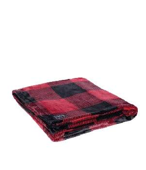 Cuddle Throw in Buffalo Check Red