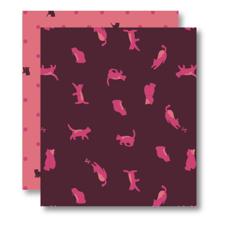 Cats Orchid Pattern