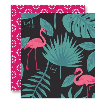 Flamingo Black Pattern