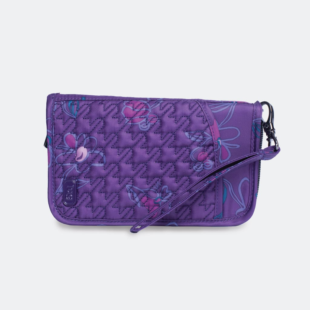 Floret Purple on Tandem SE wallet