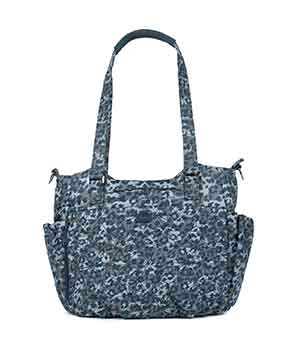 Scuttle in Leopard Navy