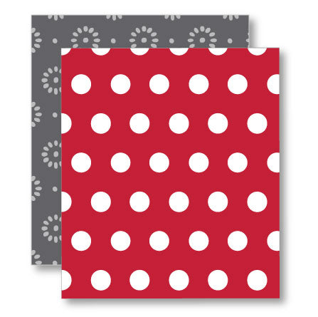 Crimson Large Dot Pattern