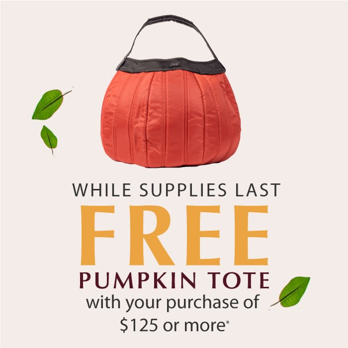 Spend $125 or more, get a FREE pumpkin tote
