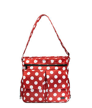 Happy Camper in Crimson Large Dot
