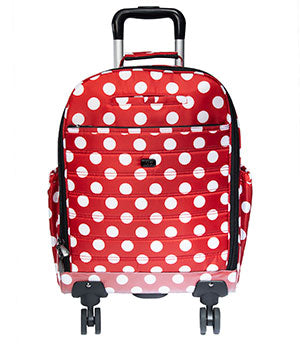 Porter Wheelie in Crimson Large Dot
