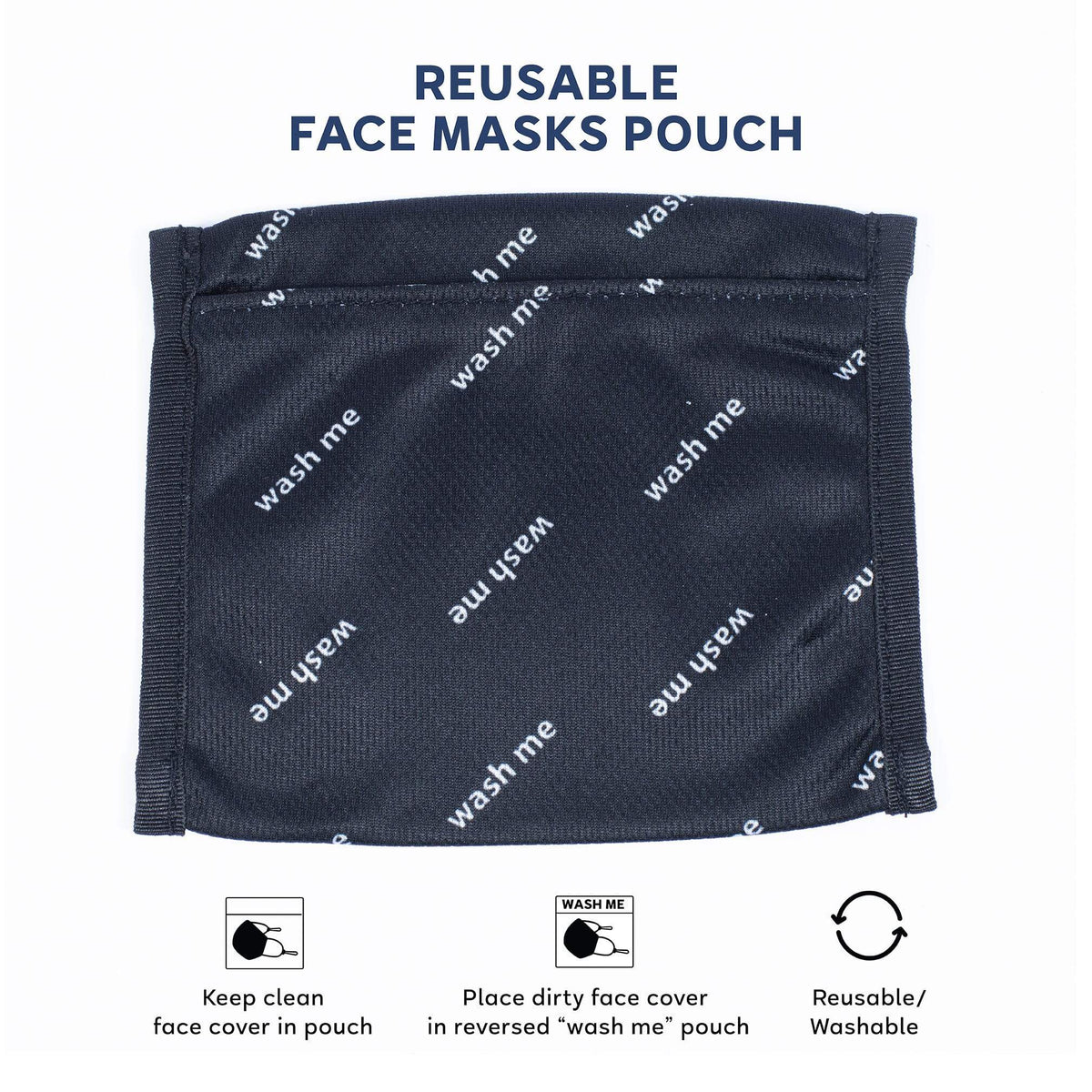Pocket Face Cover with Pouch 3PK