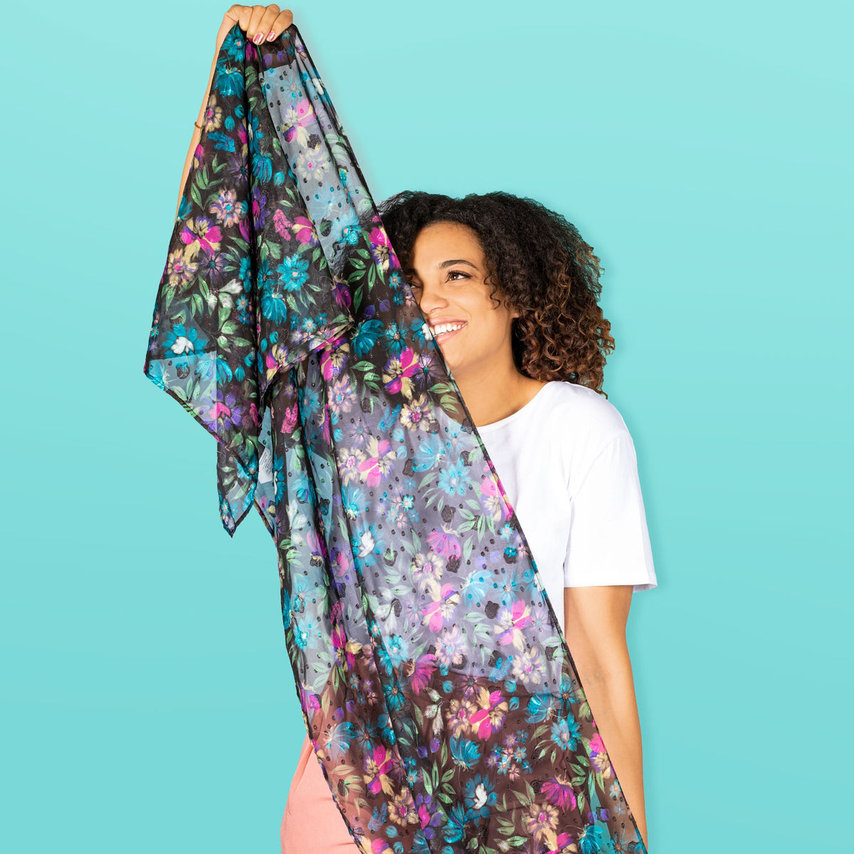 Twist Lightweight Printed Shawl