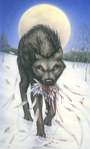 10 of Feathers - Dire Wolf Print by William Giese