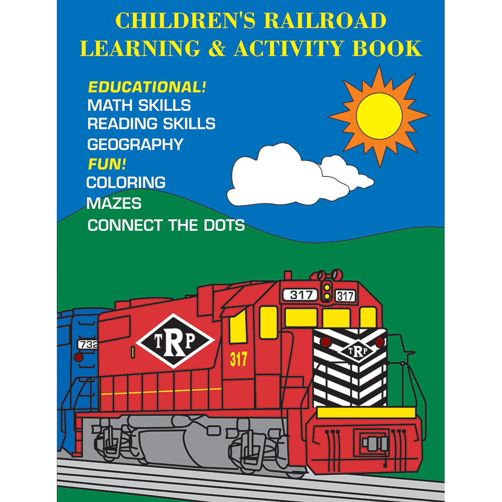 Childrens Railroad Learning Activity Book