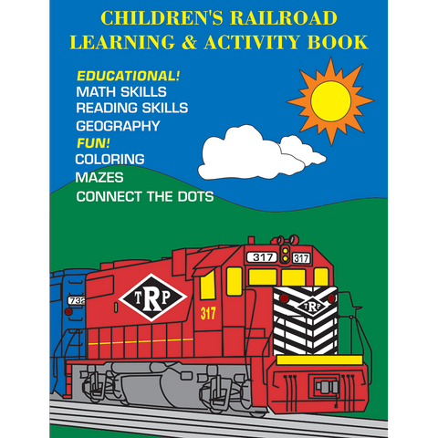 Children's Railroad Learning & Activity Book