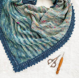 Crochet Fade Wrap | EASTON SHAWL  By TL Yarn Crafts Yarn PACK colour Brown