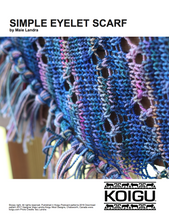 Load image into Gallery viewer, Simple Eyelet Scarf - PDF download