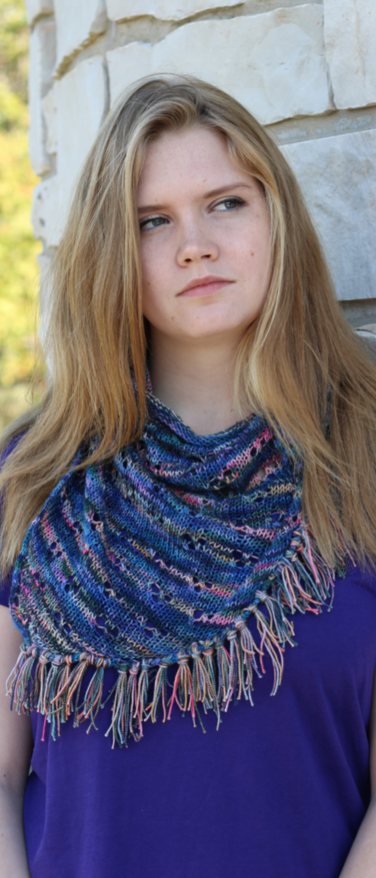 Simple Eyelet Scarf - PDF download