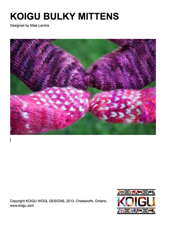 Koigu Bulky Mittens PDF Download