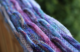 Silent Purple Scarf download pattern