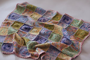 Koigu Square Medallion Blanket pdf pattern