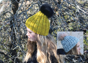 Quick Knit Pompom Hat yarn kit