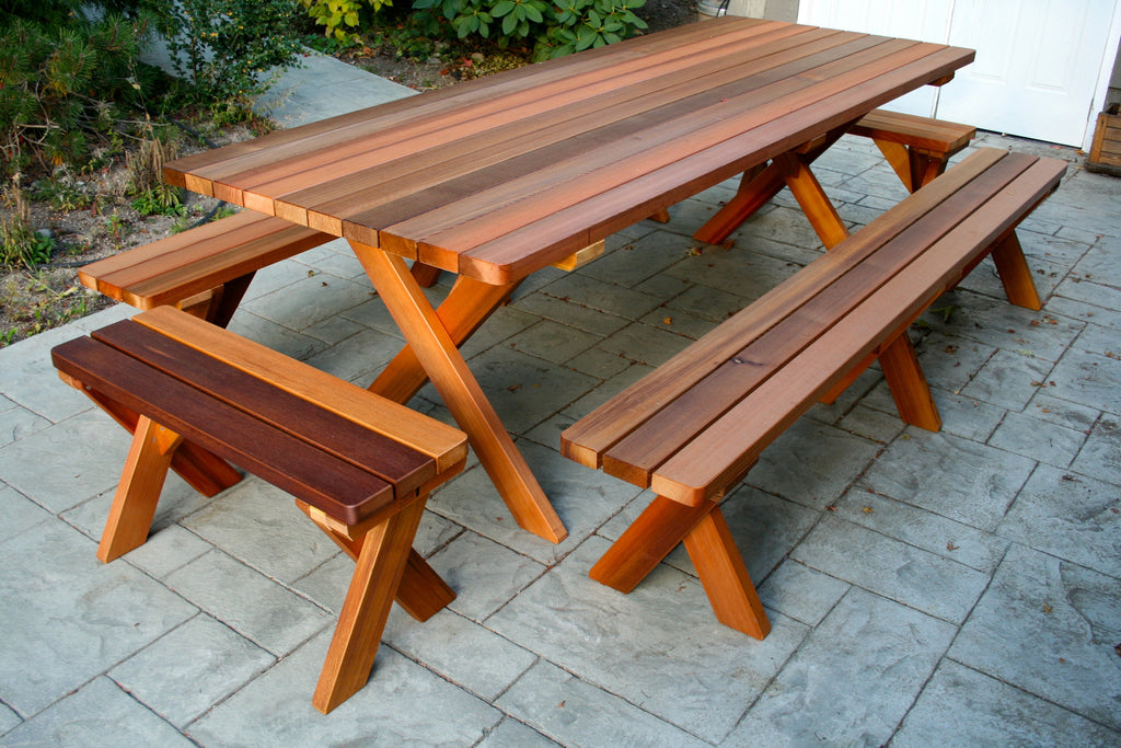 large wood picnic table seattle cedar rh shop seattle cedar com cedar picnic table plans cedar picnic table kit