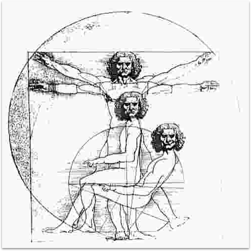 Maybe Da Vinci drew his Vitruvian Man at a stand desk