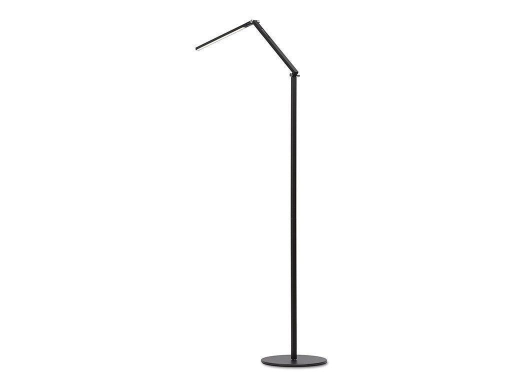 Metallic Black Z Bar Floor Lamp - StandDesk