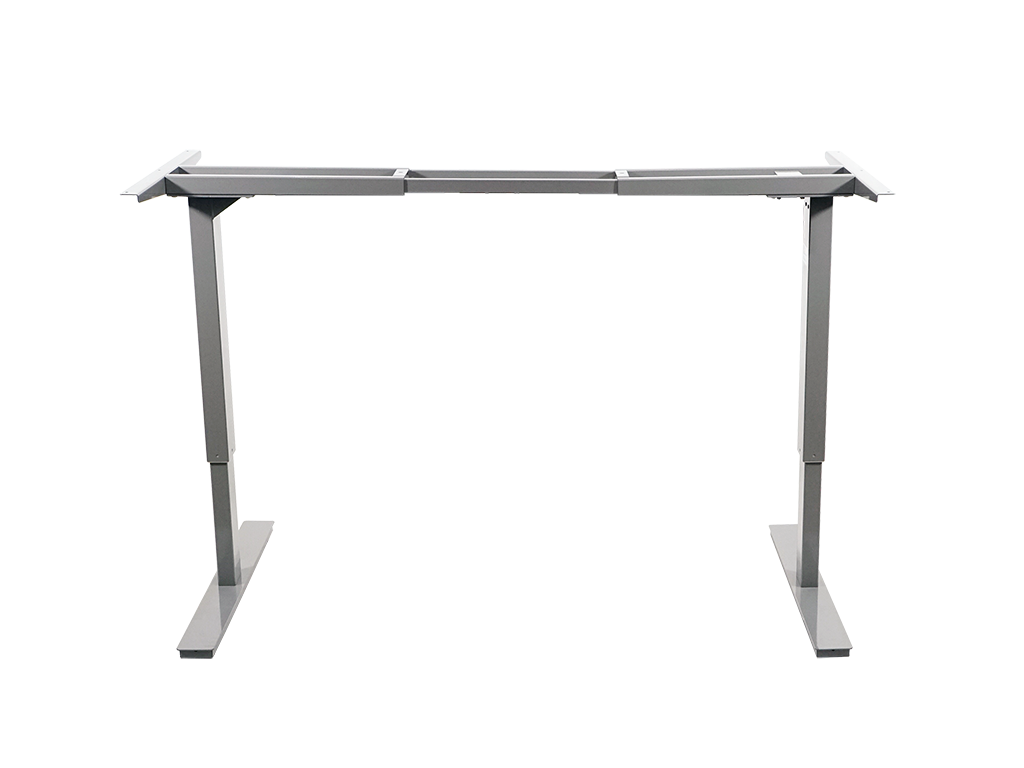 Glossy Gray Robotic Height Adjustable Standing Desk Frame