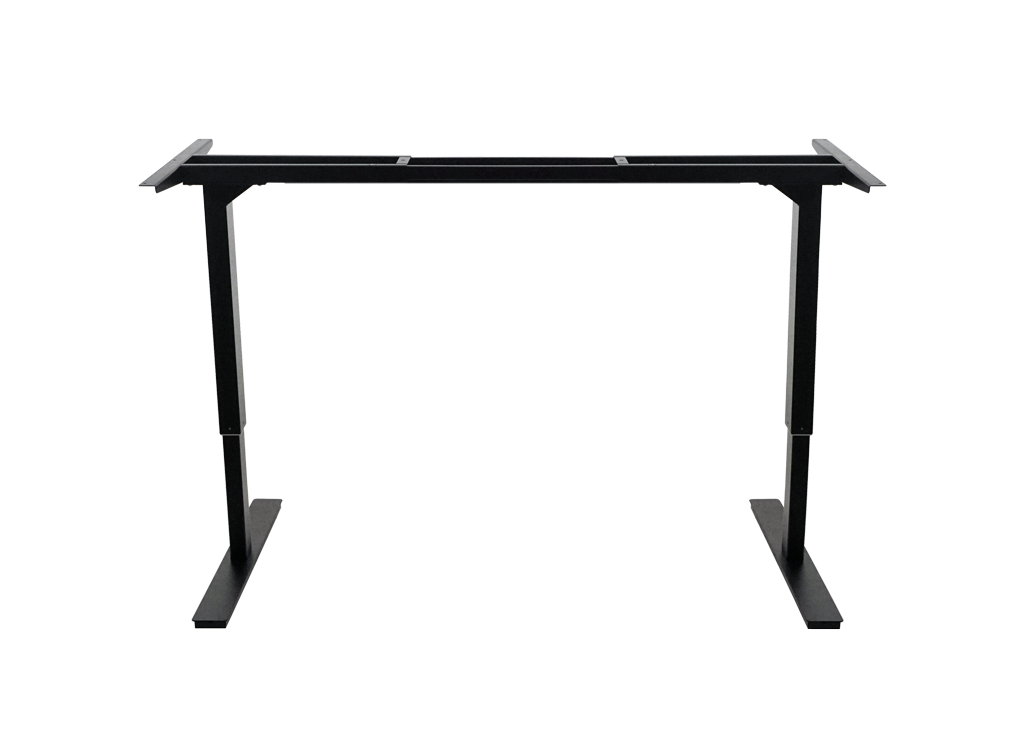 Matte Black Robotic Height Adjustable Standing Desk Frame