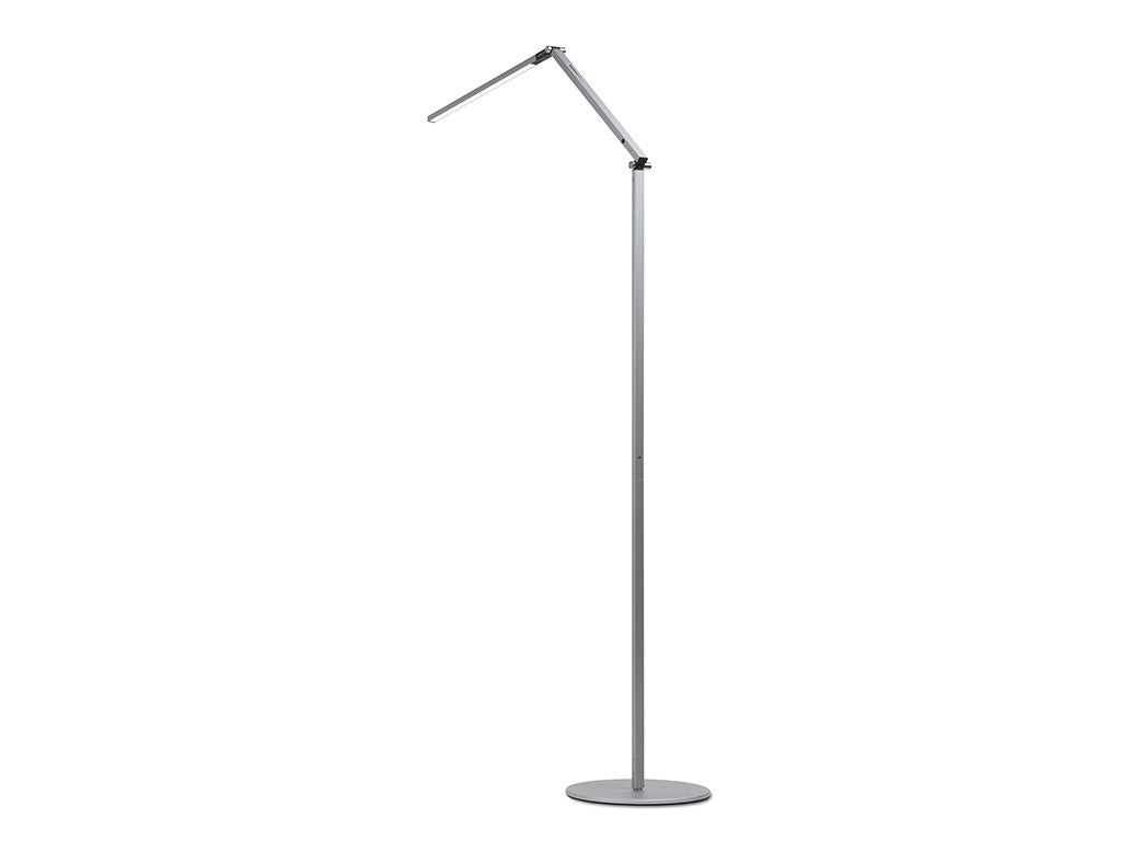 Silver Z Bar Floor Lamp - StandDesk