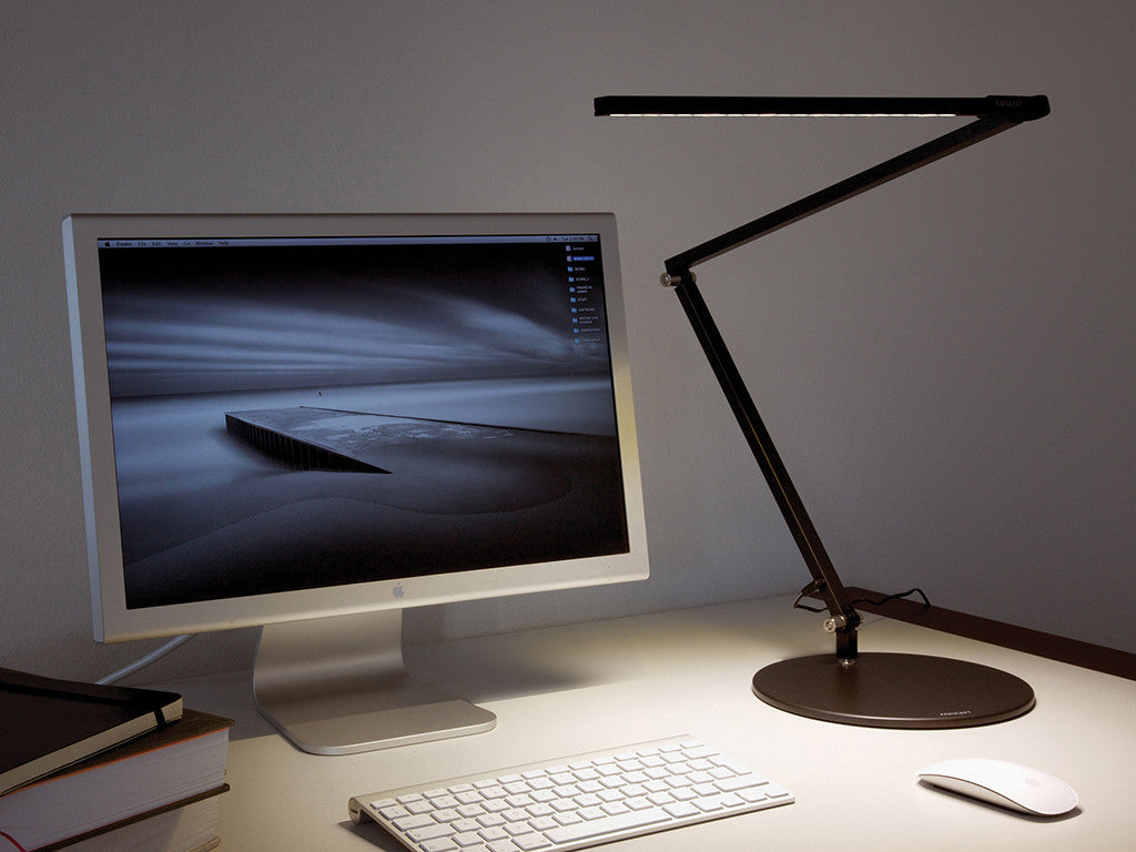 Metallic Black Z Bar Desk Lamp - StandDesk