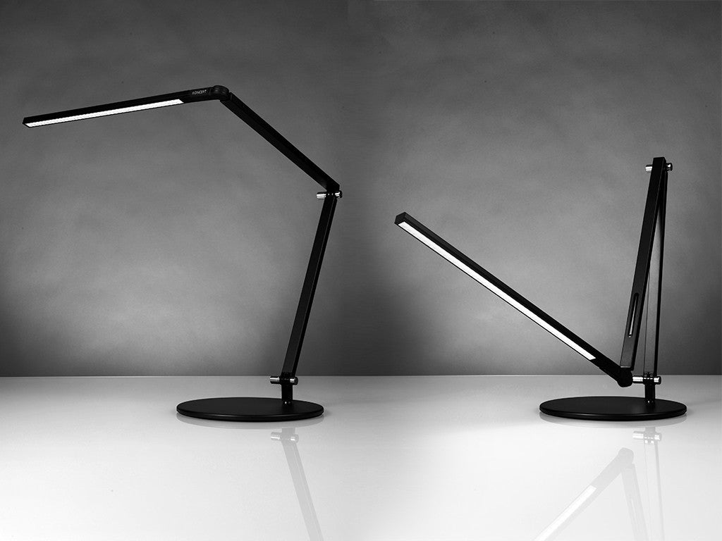 StandDesk.co Metallic Black Z Bar Desk Lamp