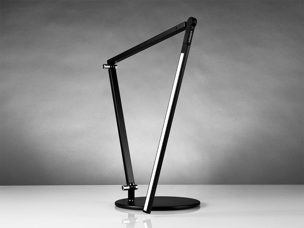 Metallic Black Z Bar Desk Lamp - StandDesk.co