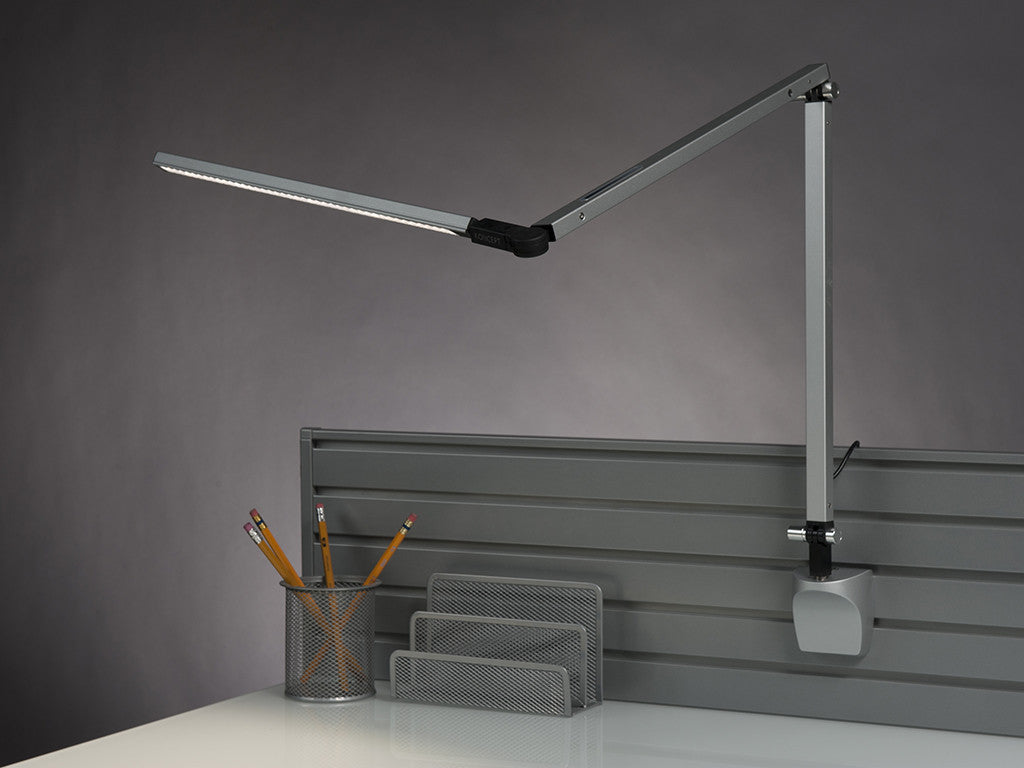 Silver Z Bar Desk Lamp