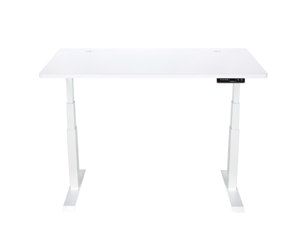 StandDesk Simple Pure White w/ Arctic White Top