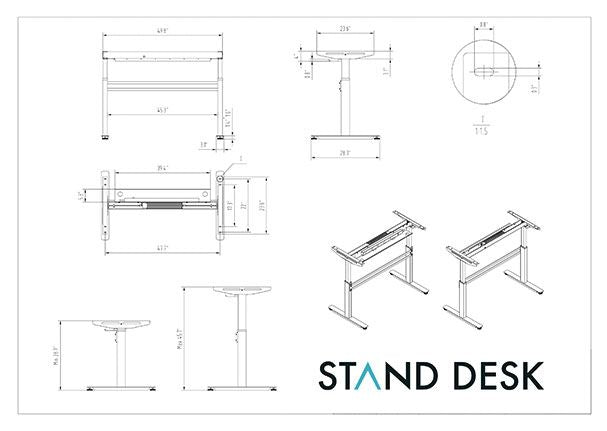 Standdesk Drawing